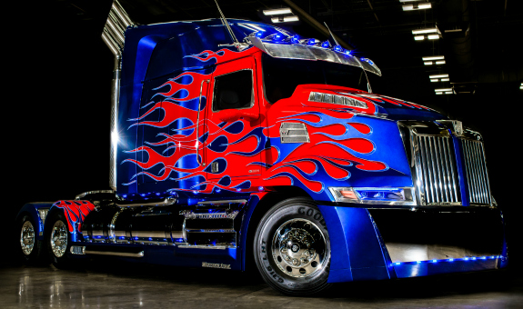 Optimus Prime visits Johnson Towers