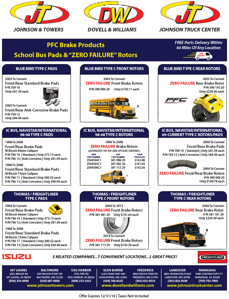 2018 Constant Contact PFC Brake Promotions