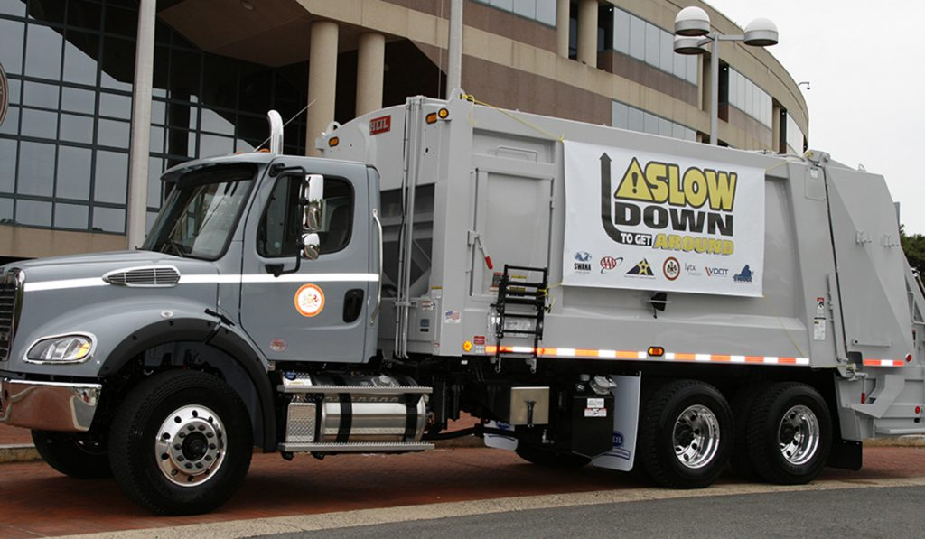 Photo of Fairfax County Freightliner refuse truck